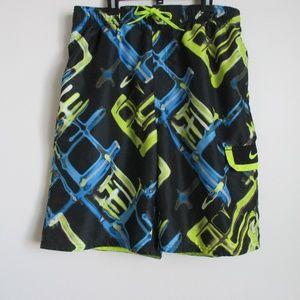 Nike Swim Trunks Men's Large Graphic Shorts